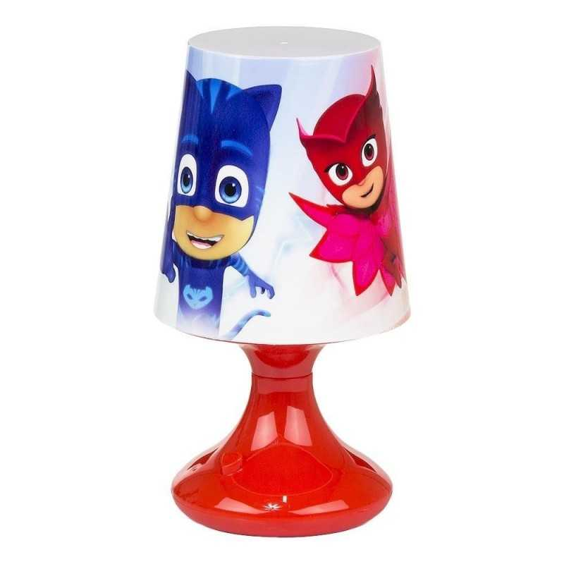 Rød - Pyjamasheltene Bordlampe Til Børneværelset 18x10 cm