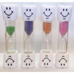 3 min. Timeglas Til Tandbørstning 9,5 cm : Farve - Gul