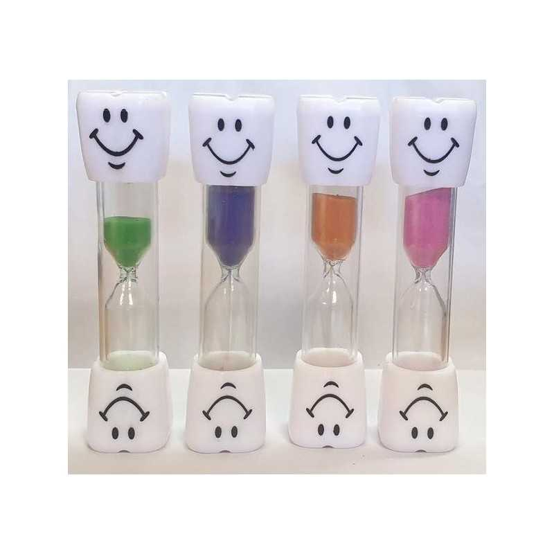 3 min. Timeglas Til Tandbørstning 9,5 cm : Farve - Lyserød