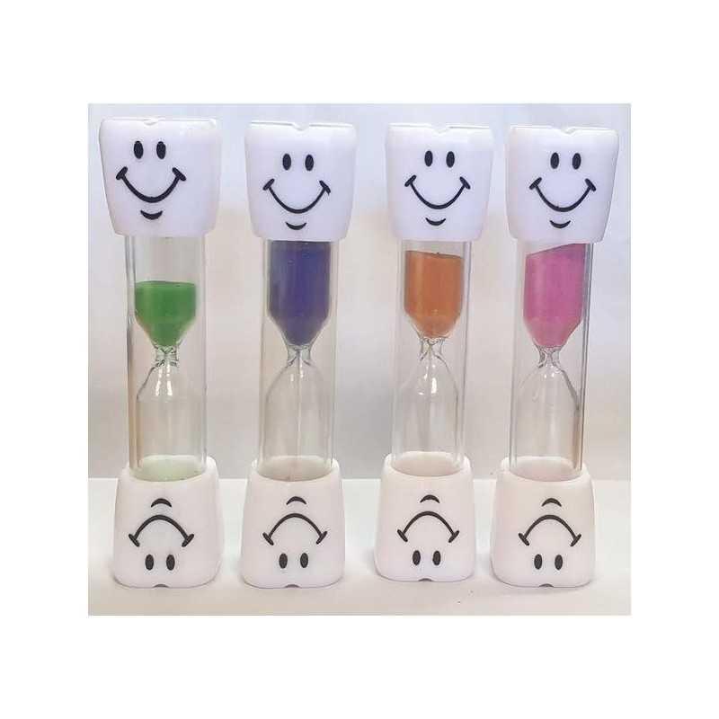 3 min. Timeglas Til Tandbørstning 9,5 cm : Farve - Orange