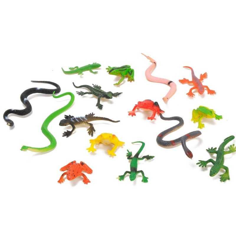 15 stk. Reptiler