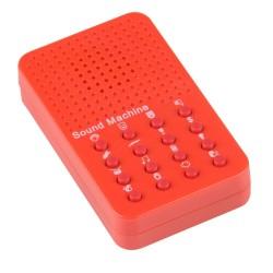 Rød Lydmaskine Med 16 Forskellige Autentiske Lyde