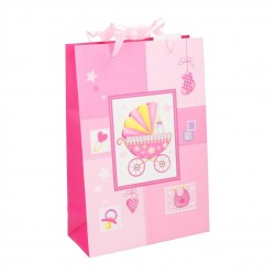 Gavepose Til Fødselsdag Eller Barnedåb 22,5 x 10 x 33,5 cm Til Piger