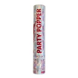 Party Popper / Konfetti Rør 28 cm Sølv