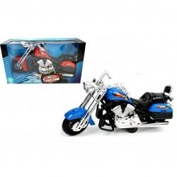 Stor Friktion Motorcykel 30 cm Lang : Farve - Blå
