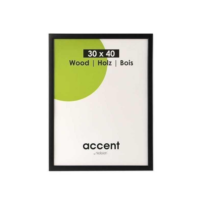 10x15 cm Nielsen Fotoramme Accent i Træ : Farve - Sort
