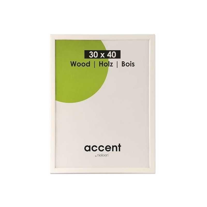 24x30 cm Nielsen Fotoramme Accent i Træ : Farve - Hvid