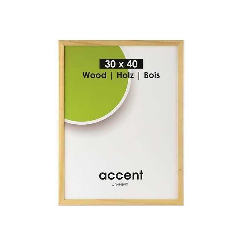 30x40 cm Nielsen Fotoramme Accent i Træ : Farve - Natur