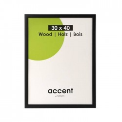 60x80 cm Nielsen Fotoramme Accent i Træ : Farve - Sort