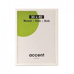 60x80 cm Nielsen Fotoramme Accent i Træ : Farve - Hvid