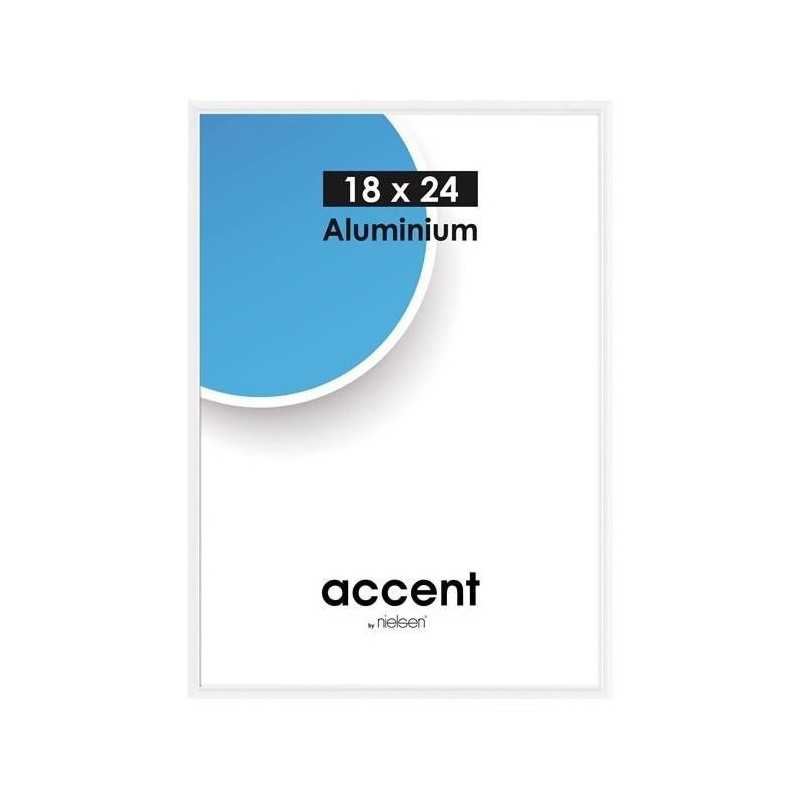 13x18 cm Nielsen Fotoramme Accent i Aluminium Flere Farver : Farve - Hvid