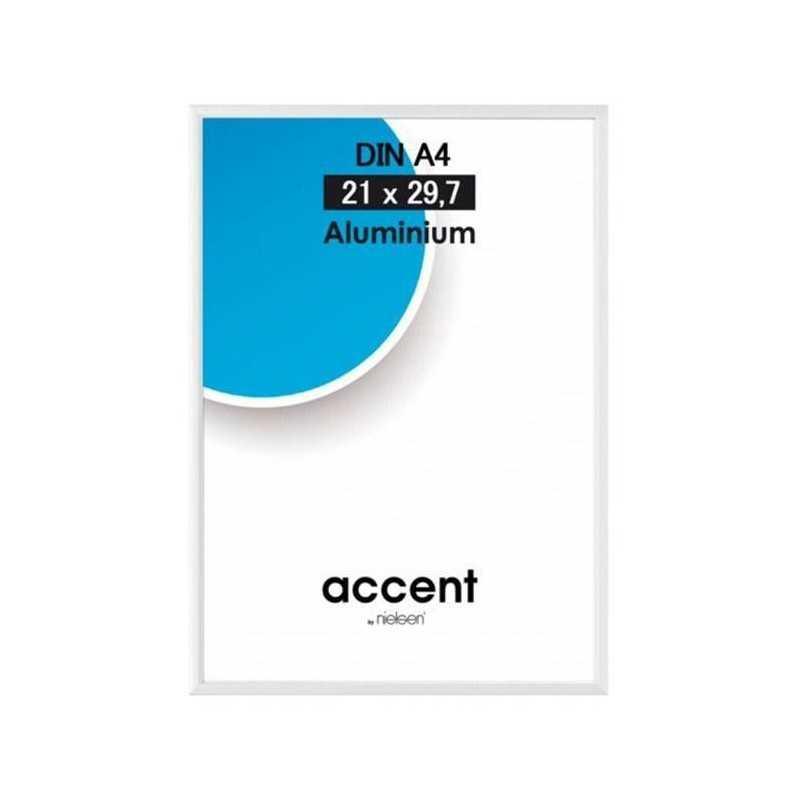 15x20 cm Nielsen Fotoramme Accent i Aluminium Flere Farver : Farve - Højglans Silver