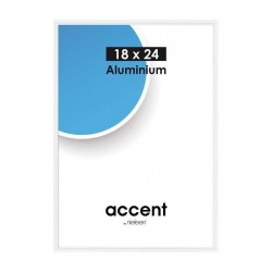 18x24 cm Nielsen Fotoramme Accent i Aluminium Flere Farver : Farve - Hvid