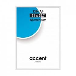 21 x 29,7 cm (DIN A4) Nielsen Fotoramme Accent i Aluminium Flere Farver : Farve - Højglans Silver