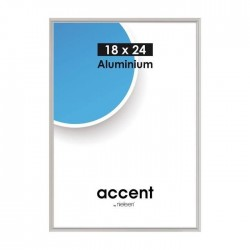 21 x 29,7 cm (DIN A4) Nielsen Fotoramme Accent i Aluminium Flere Farver : Farve - Mat Silver