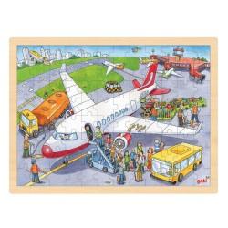 Træ Puslespil Med Lufthavn 96 Brikker