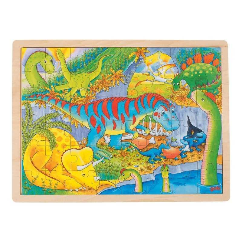 Træ Puslespil Med Dino Park 48 Brikker