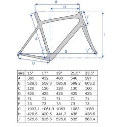 "26"" MTB Ramme Aluminium Mat Sort : Stel Størrelse - 23,5"" (59,6 cm)"