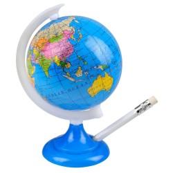 Blyantspidser Som Globus Med Alle Verdens Lande 14 Cm
