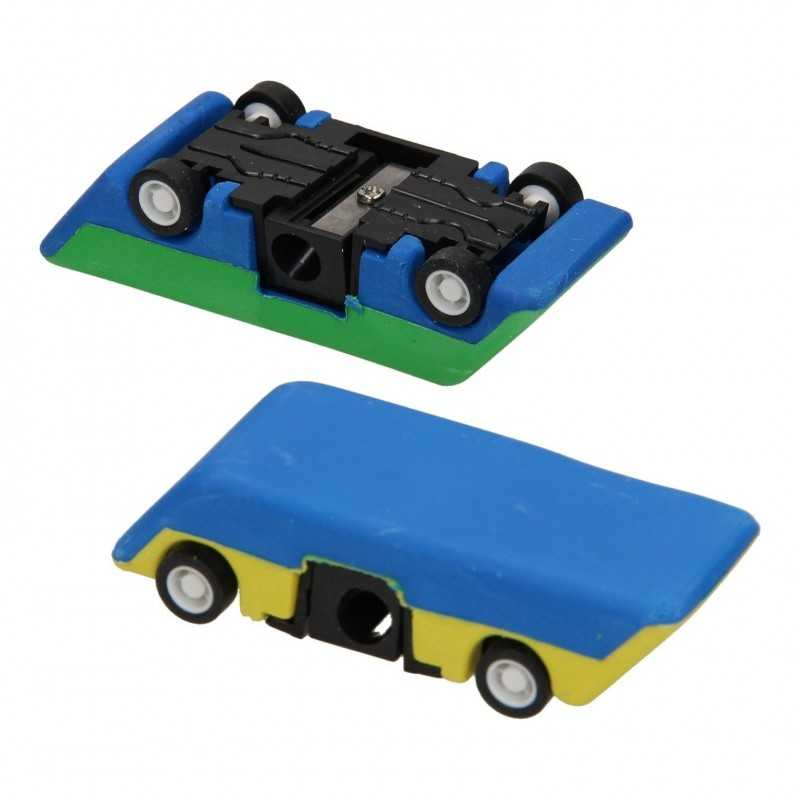Blyantspidser og Viskelæder Formet Som Bil 8 x 3 x 2 cm