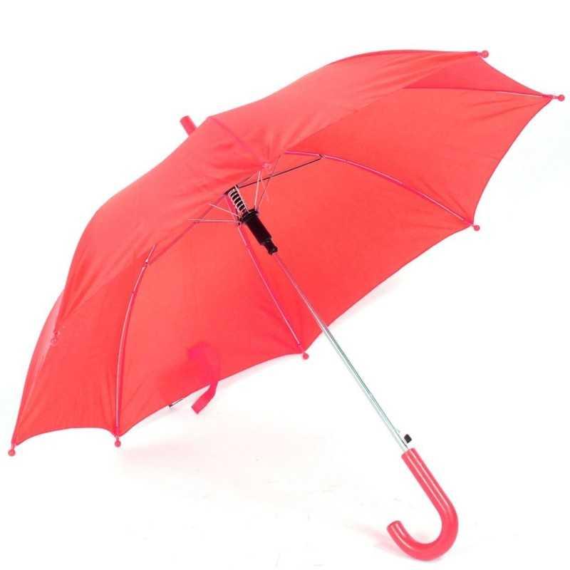 Paraply Til Børn Ø 75 cm Flere Farver : Farve - Rød