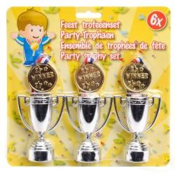 3 Stk. Medaljer og 3 stk. Pokaler Til Børn - Winner