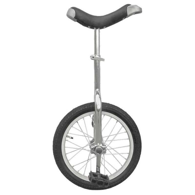 """16"""" Ethjulet Cykel Sølv"""