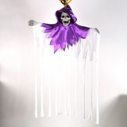 Svævende Spøgelse Med Kappe Lilla / Hvid 50x40 cm