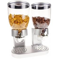 Cornflakes Dispenser Dobbelt 42 x 33 x 20 cm Sølv