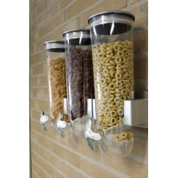 Cornflakes Dispenser Til Montering På Væg 31 x 50 x 11 cm Sølv