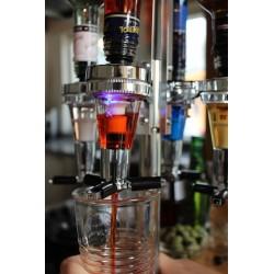 Spiritus Dispenser Karrusel Med LED Lys Til 4 Flasker
