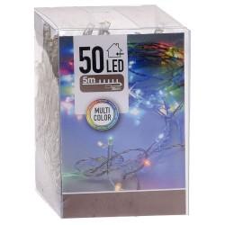 Lyskæde Med 50 LED Dioder - Multi Color 5 Meter