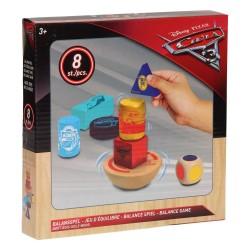 Disney Cars - Balance Spil i Træ Til Børn 7 x 7 x 3 cm