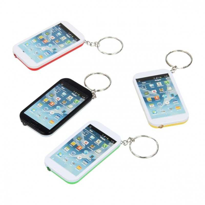 Nøglering Med Indbygget Lommelygte - Smartphone