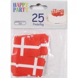 25 Stk. Pindeflag Med Det Dansk Design Plast