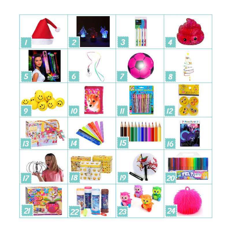 Pakkekalender Til Piger 5-7 år - Bubbleezz