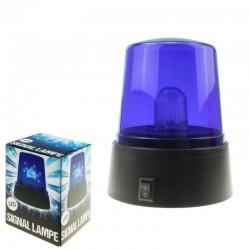 Signal Lampe Med Blåt Lys
