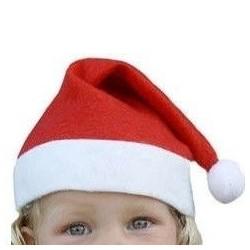 Nissehue Rød og Hvid Til Børn