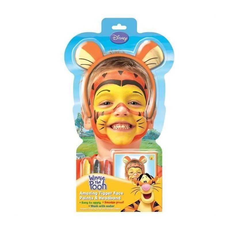 Tigerdyr Ansigtsmaling Inkl. Hårbøjle Med Øre