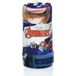 Marvel Avengers Fleece Tæppe 100 x 150 cm : Farve - Blå