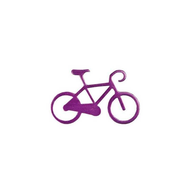 Nøglering I Aluminium Med Cykel Motiv : Farve - Lilla