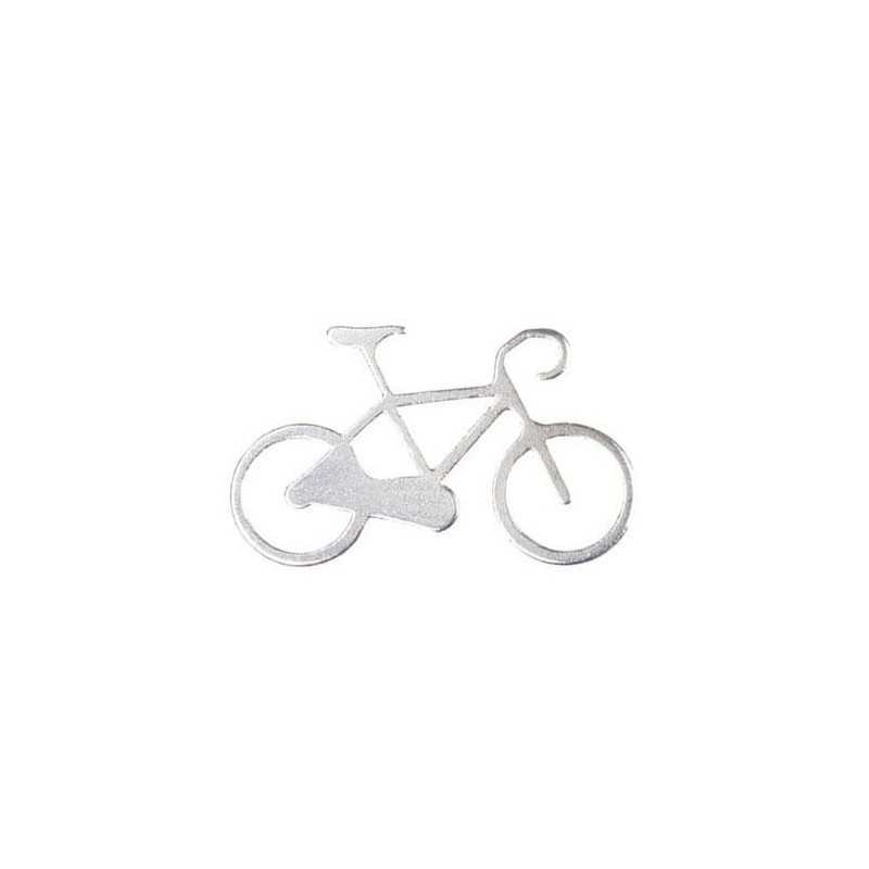 Nøglering I Aluminium Med Cykel Motiv : Farve - Sølv