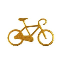 Nøglering I Aluminium Med Cykel Motiv : Farve - Guld