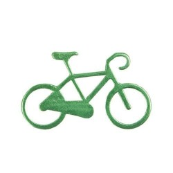 Nøglering I Aluminium Med Cykel Motiv : Farve - Grøn