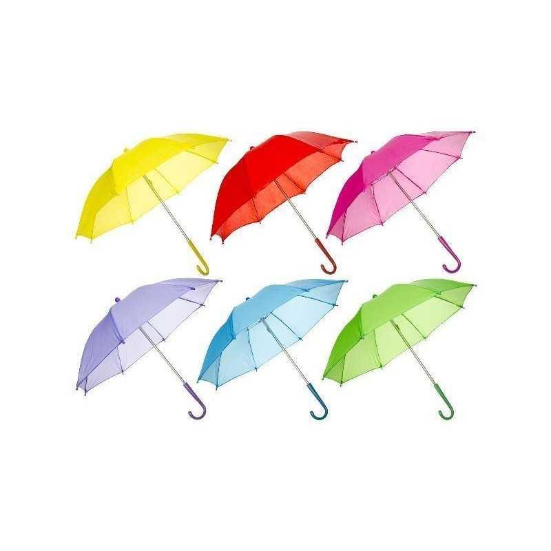 Paraply Til Børn Ø 50 cm Flere Farver : Farve - Lyserød