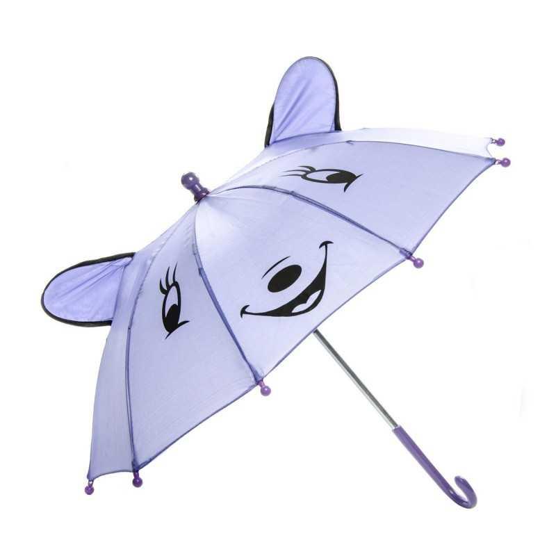 Paraply Med Glad Ansigt Til Børn Ø 50 cm Lilla