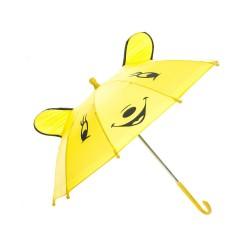 Paraply Med Glad Ansigt Til Børn Ø 50 cm Gul
