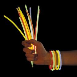 15 Stk. Knæklys Armbånd eller Halskæde 26 cm