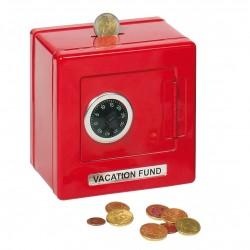 Pengeskab Med Kode i Metal 13,5 x 13,5 x 9,5 cm Rød