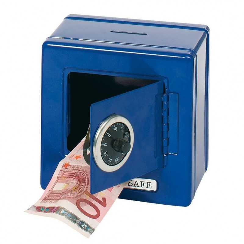 Pengeskab Med Kode i Metal 13,5 x 13,5 x 9,5 cm Blå